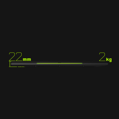 XMG NEO 15 Gaming Laptop 22 mm thin 2 kg light
