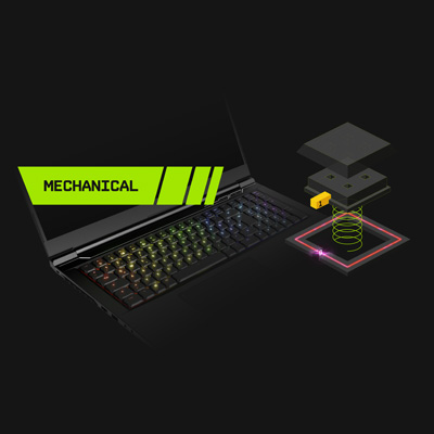 XMG NEO 17 Gaming Laptop with optomechanical keyboard