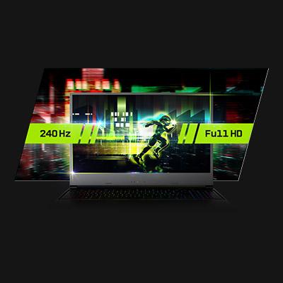 XMG NEO 15 AMD Early 2021 Full HD 240 Hz Display