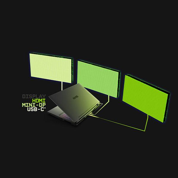 XMG PRO 17 Gaming Laptop Anschlüsse