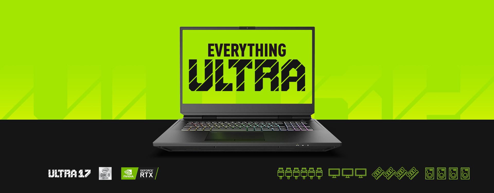 XMG ULTRA Gaming Laptop NVIDIA GeForce RTX and Intel LGA 1200