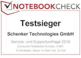 Testsieger Service Notebookcheck 2018