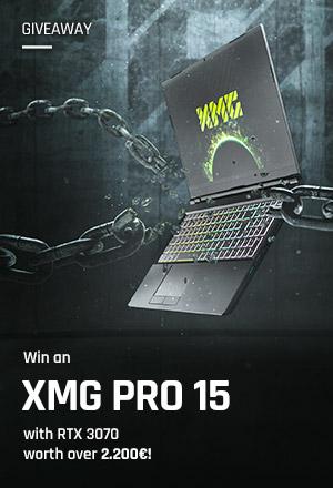 XMG PRO 15 gaming laptop giveaway